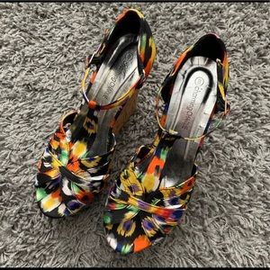 Charming Charlie-Women's Multi Color Wedges